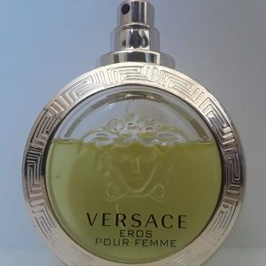 1.7 oz Used Versace Eros Fragrance